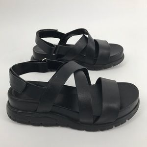 Cole Haan ZeroGrand Leather Cross Sandal Sz 6.5